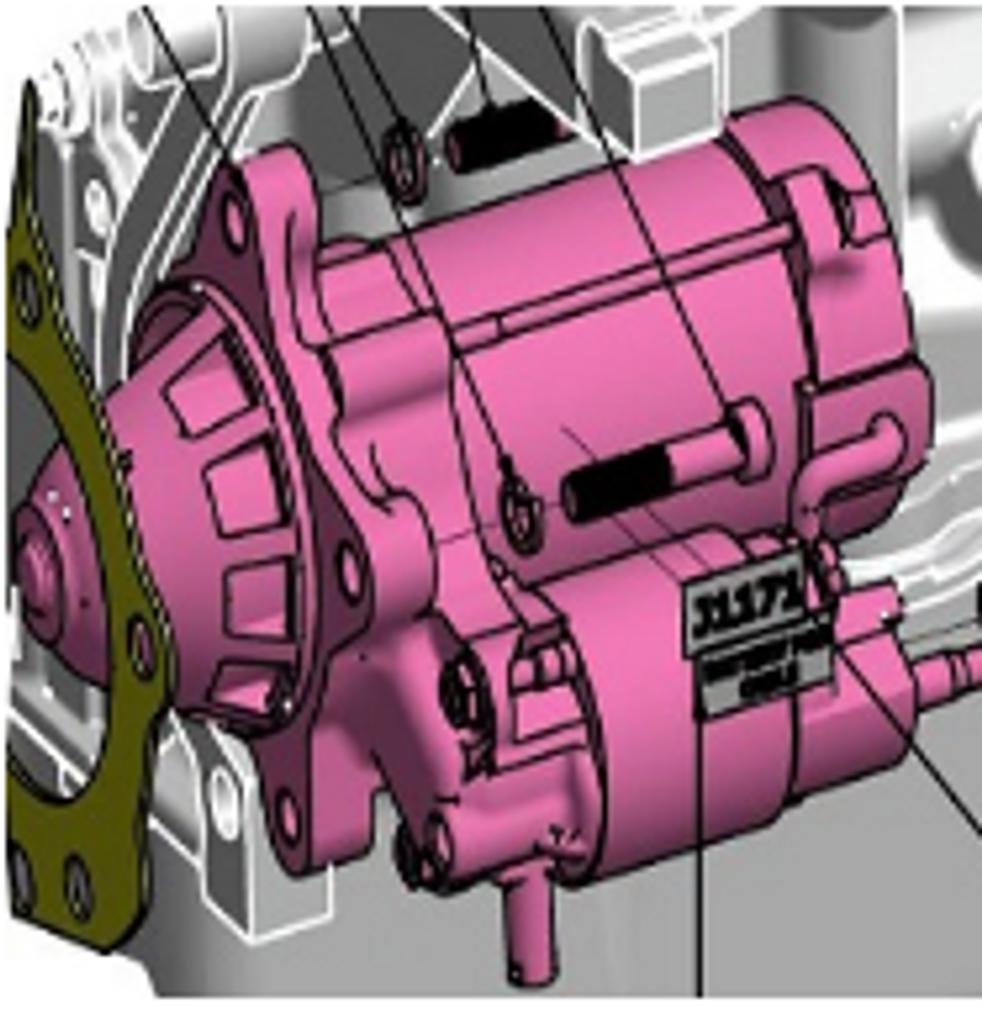 Starter Bottom Mount (Ford 6.2 Liter),597029P