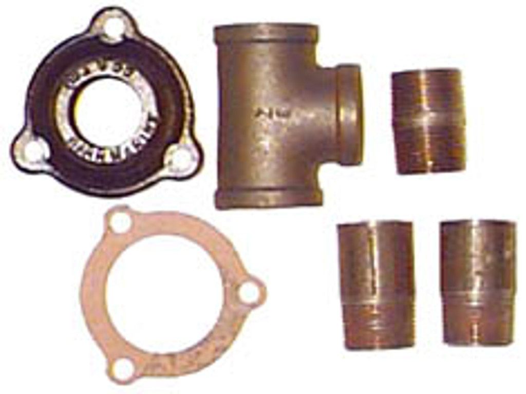 Pressure relief valve adaptor package for use with Chris Craft....CC-6-80