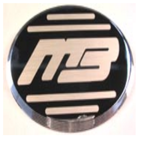 EMBLEM MB SPORTS CHROME ETCHED.....150001