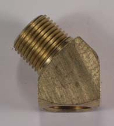 "3/8"" to 3/8"" 45 Degree Male Connector (brass),605025"