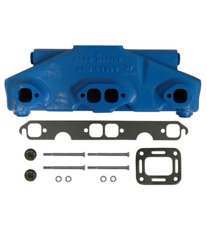 Crusader V8 Center Riser Exhaust Manifold, CR-1-98243