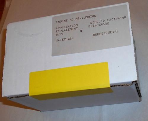 KOBELCO ENGINE CUSHION REPLACES 2416R145D2 SET OF 4 PCS