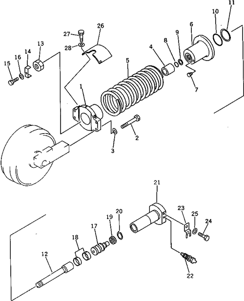 Track Adjuster Assembly for PC200-3 PC200LC-3