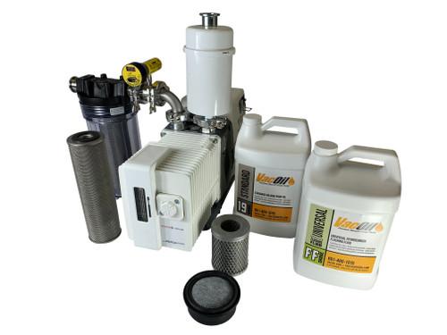 14.6 CFM Pfeiffer / adixen Professional Vacuum Pump Package