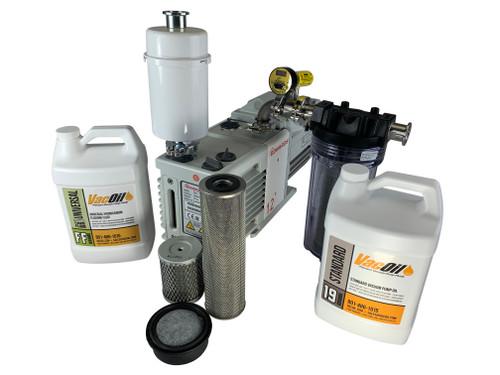 Edwards RV12 10 CFM Two-stage Oil Sealed Vacuum Pump with 120V/220V 60 Hz Motor