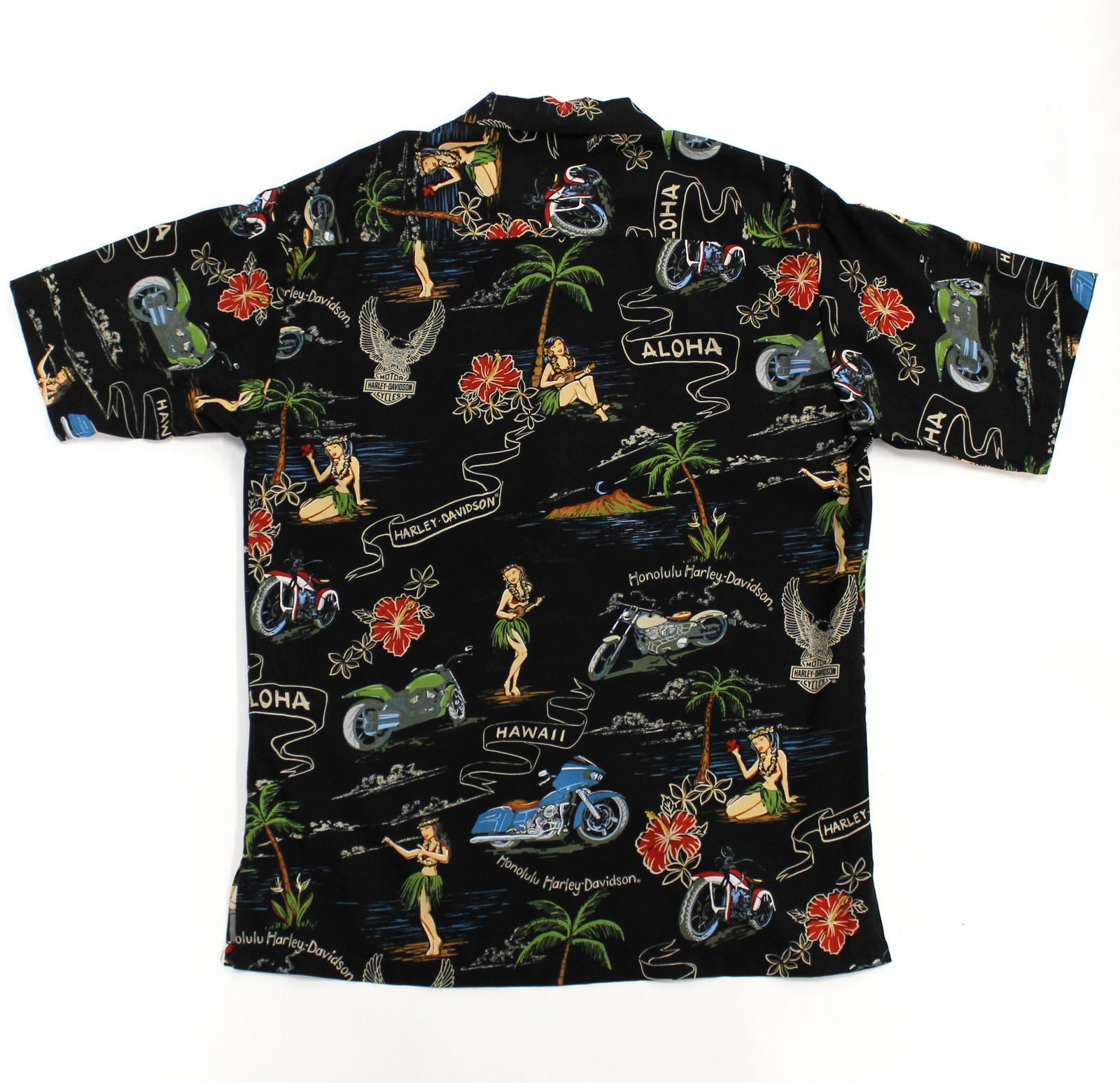 Aloha Shirt Hula Dancer Black