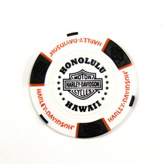Harley-Davidson USS Arizona White & Black Poker Chips