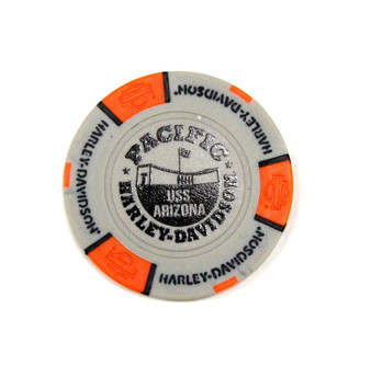 Harley-Davidson USS Arizona Grey & Orange Poker Chips