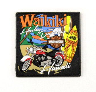 Waikiki Coastal Harley-Davidson Magnet