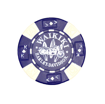 Harley-Davidson Surfboard Blue Poker Chips