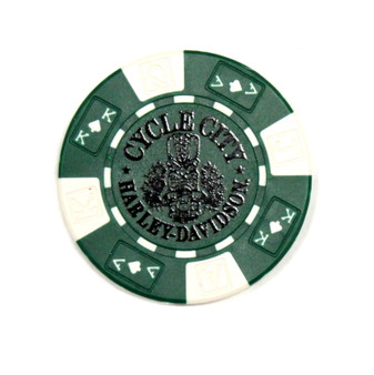 Harley-Davidson Tiki Green Poker Chips