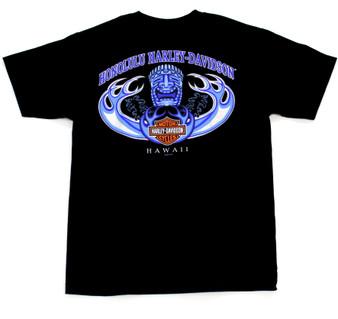 Harley-Davidson Men's Short Sleeve T-shirt Hawaii exclusive design Tiki Wave