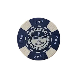 Harley-Davidson Blue White Arizona Poker Chips