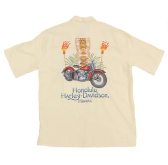 Harley-Davidson® Tiki Natural Aloha Shirt 3X