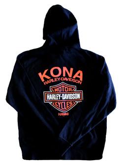 Kona Original Orange Logo Harley-Davidson Zip Jacket