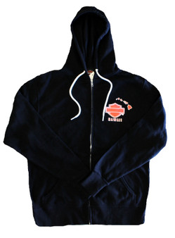 Harley-Davidson® Kona Original Orange Logo Zip Jacket