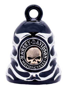 Sculpted Skull & Flames Logo Harley-Davidson Ride Bell