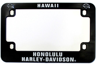 Harley-Davidson Motorcycle License Plate Frame Black