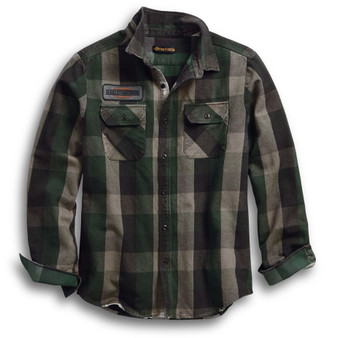 Applique Harley-Davidson Plaid Long Sleeve Shirt