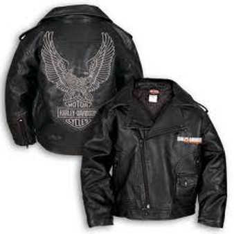Upwing Eagle Biker Pleather Harley-Davidson Jacket