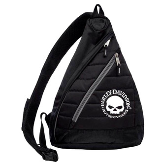 Harley-Davidson Willie G Skull Quilted Sling Backpack 90820-W