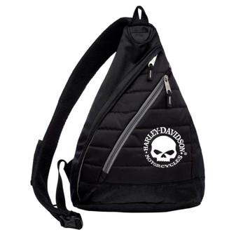 Harley-Davidson Willie G Skull Quilted Sling Backpack 90820-W