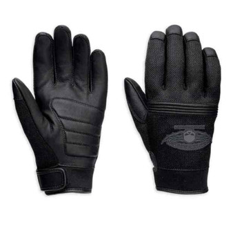 Winged Skull Harley-Davidson Full-Finger Gloves