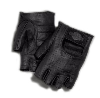 Harley-Davidson® Men's Perforated Bar & Shield Fingerless Gloves