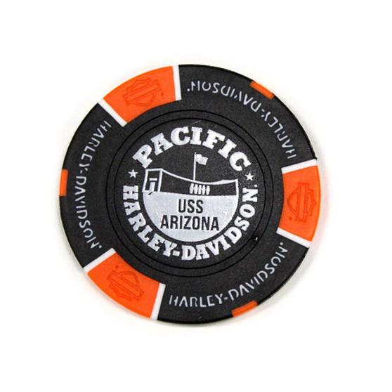 Harley-Davidson USS Arizona Black & Orange Poker Chips