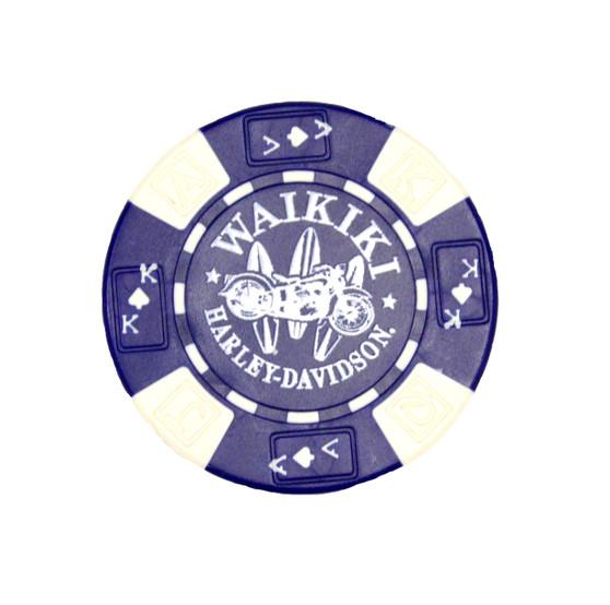 Surfboard Blue Poker Chips