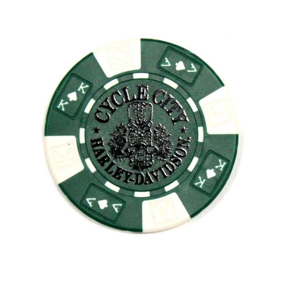 Tiki Green Poker Chips