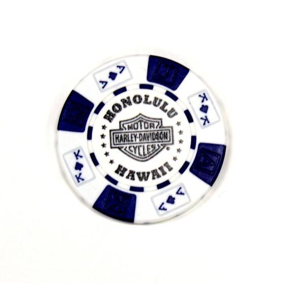 Harley-Davidson USS Missouri White Poker Chips