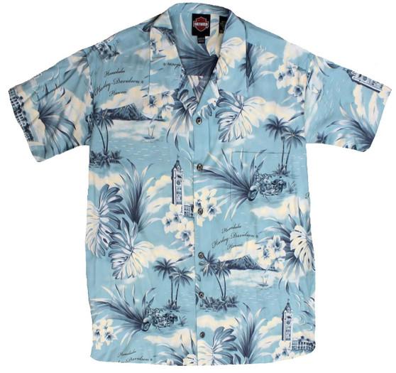 Harley-Davidson® Coastal Blue Aloha Shirt 3X