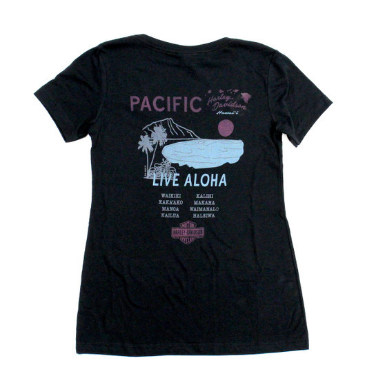 Harley-Davidson® Live Aloha Tour Black Tee