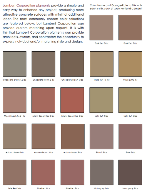 LAMBERT CEMENT COLORS