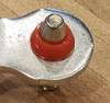 Ford EXP FA1KIT™ Transmission Shift Lever / Linkage Replacement Bushing Kit fits onto pin as shown.