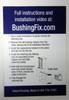 F2KIT transmission shift cable grommet