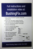 Ford E-350 Super Duty transmission shift cable grommet