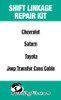 Jeep Liberty Transfer Case shift cable repair kit
