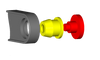 Jeep Wrangler Unlimited Transfer Case shifter cable bushing