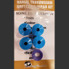 MM1Kit™ is a Chrysler, Dodge, Plymoth and other Mopar Manual Transmission Shift Cable replacement bushing set.