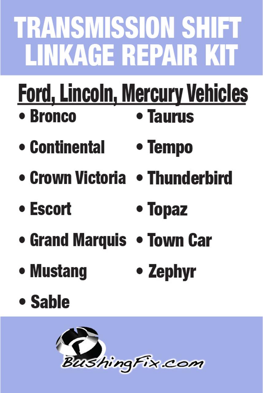 Ford EXP FA1KIT™ Transmission Shift Lever / Linkage Replacement Bushing Kit