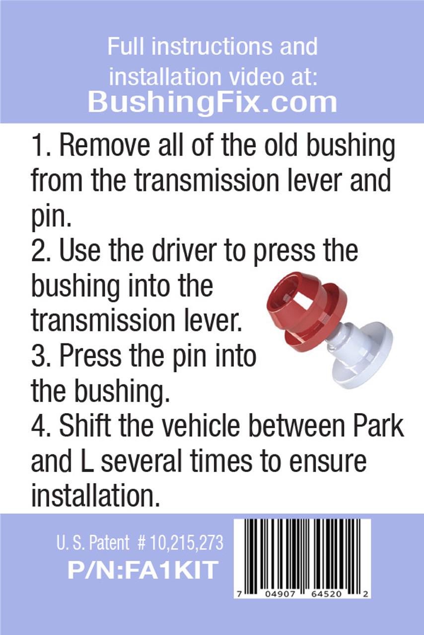 Mercury Capri FA1KIT™ Transmission Shift Lever / Linkage Replacement Bushing Kit easy to follow instructions for DIY.