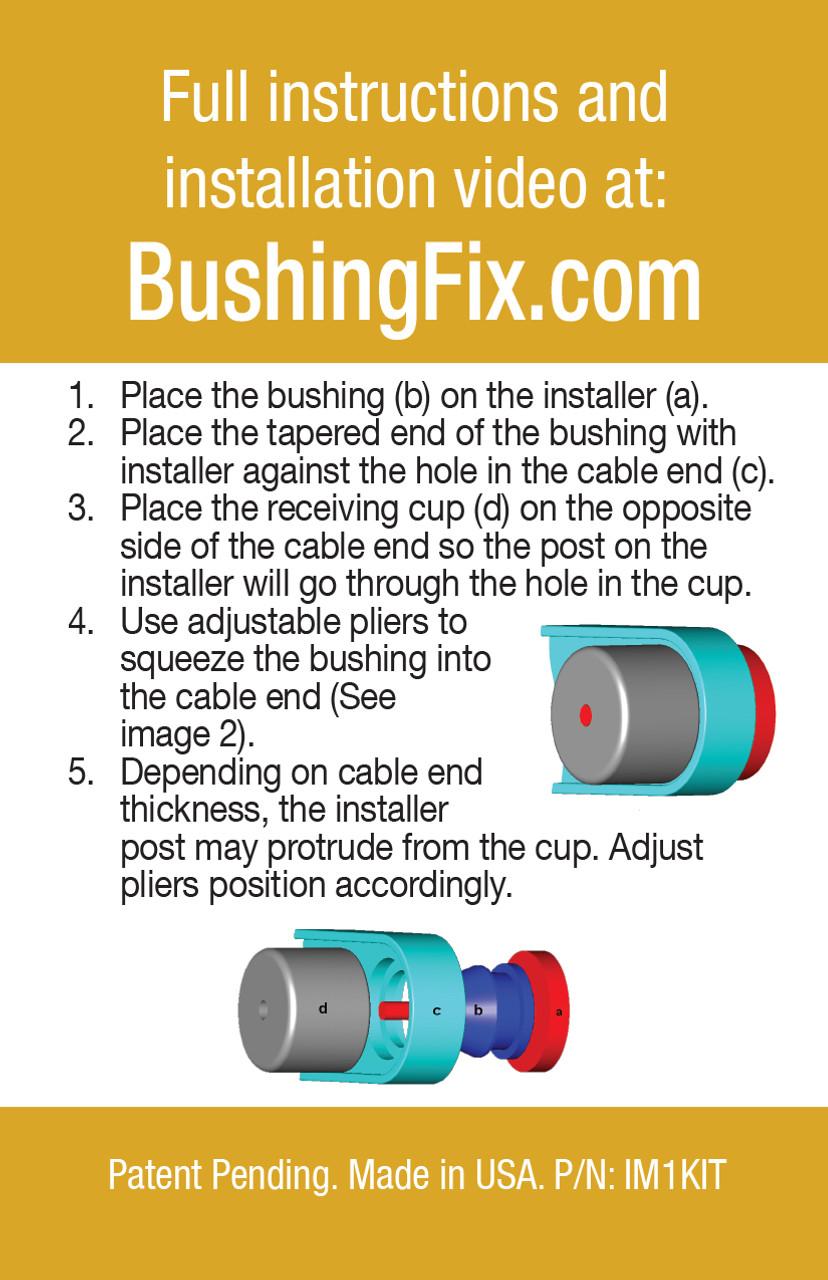 Chevrolet Malibu shift bushing repair for transmission cable