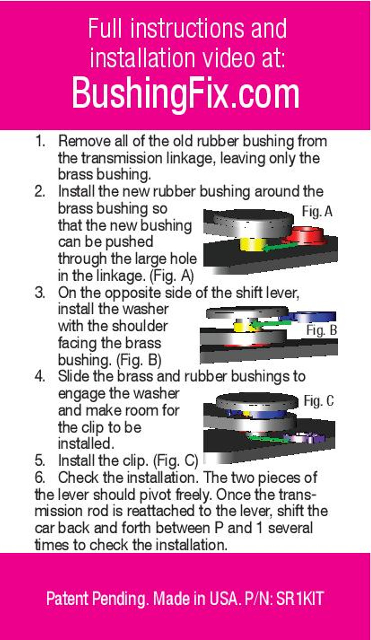 Cadillac STS Instructions