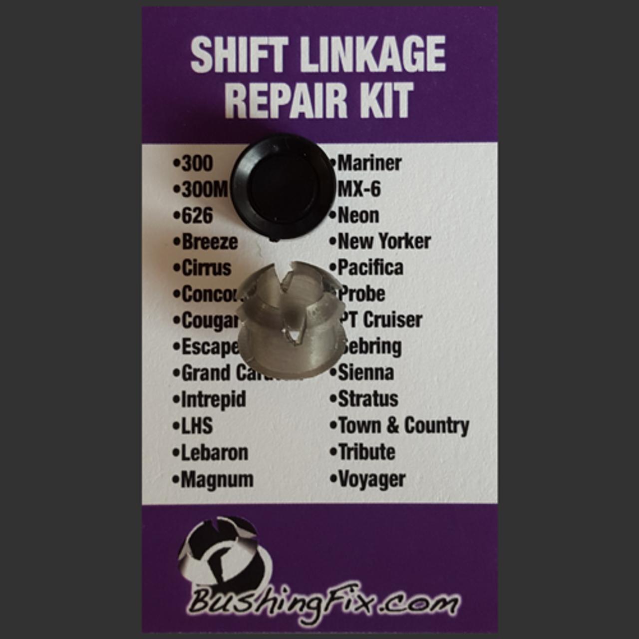 Chrysler 300M shift bushing repair for transmission cable