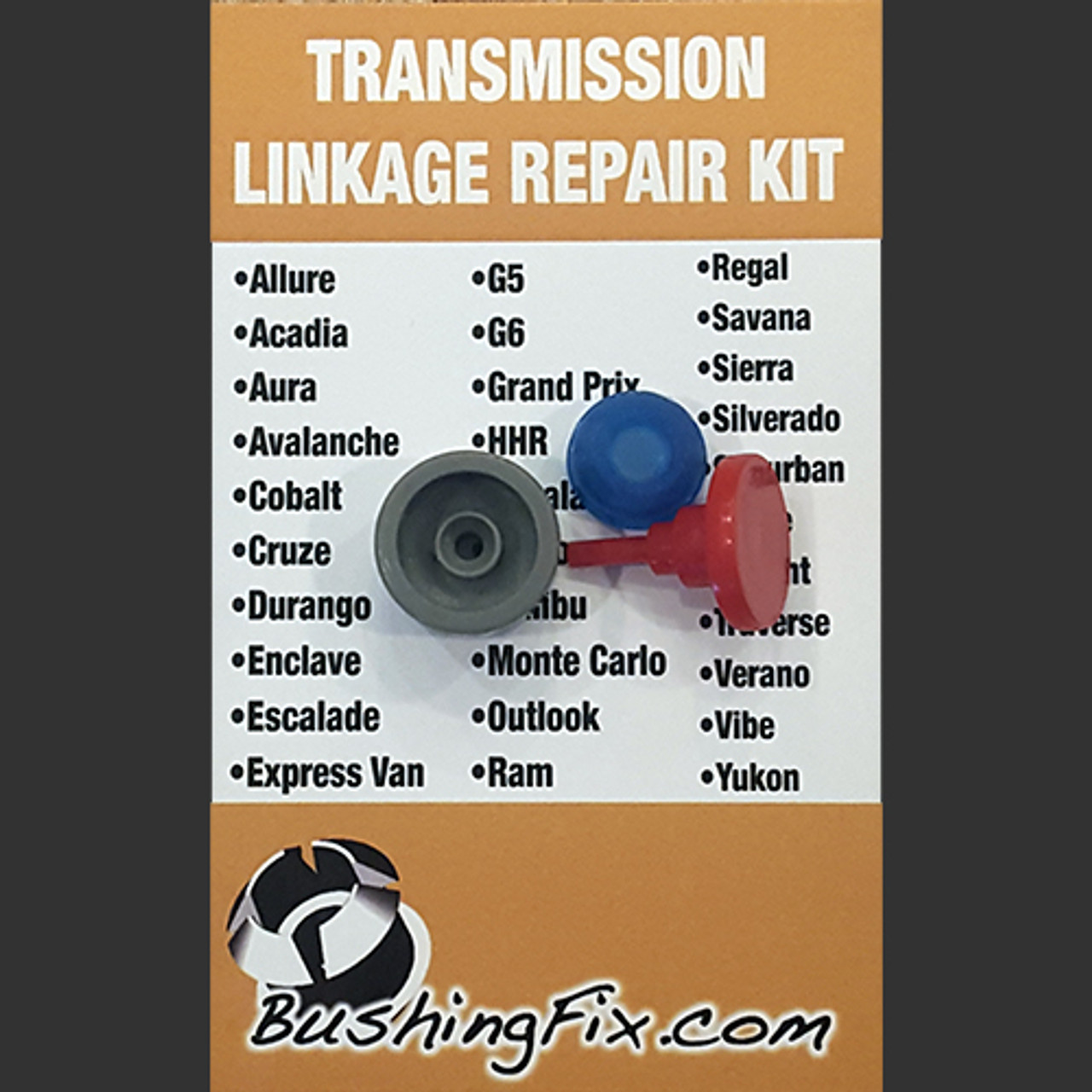 Chevrolet Cruze transmission shift selector cable and replacement bushing