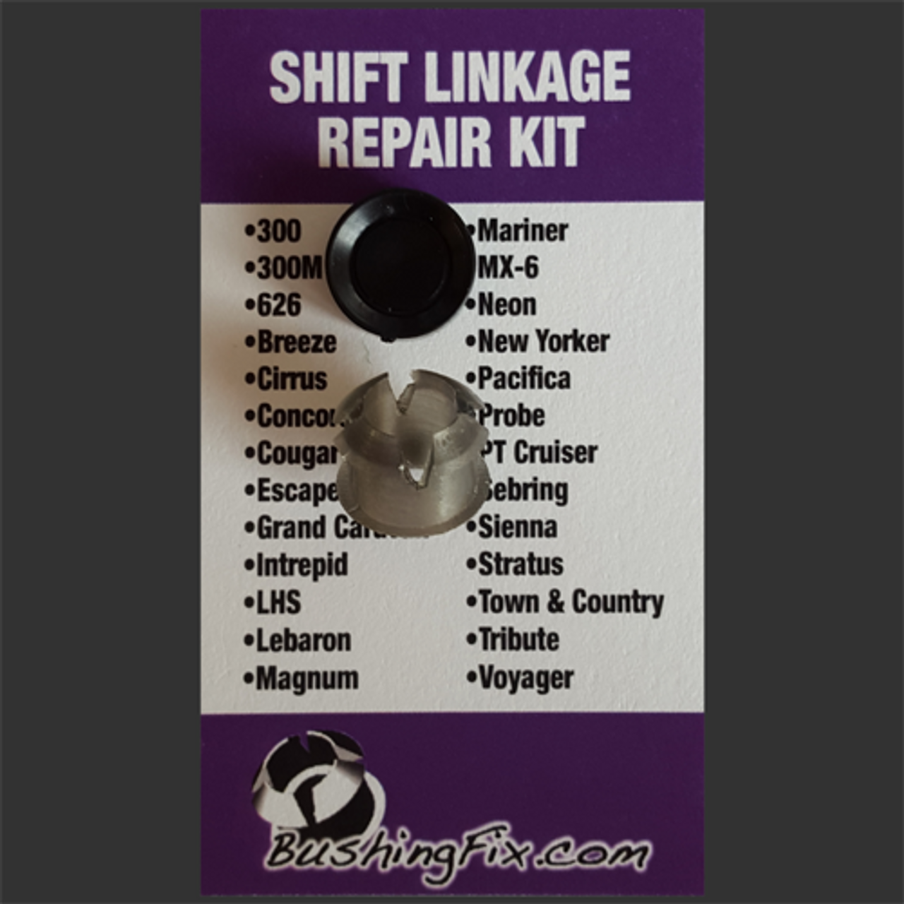 Chrysler Lebaron shift bushing repair for transmission cable