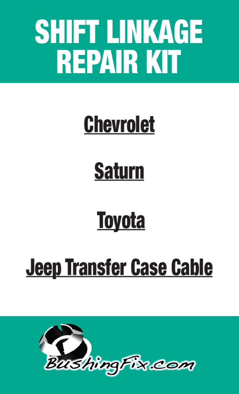 Jeep Wrangler Unlimited Transfer Case shift cable repair kit