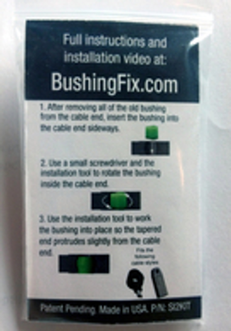 Cadillac EXT Transmission Shift Cable Bushing Repair Kit  with easy to follow instructions.